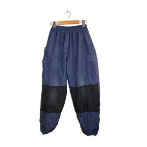 Vintage Blue Cargo Insulated Winter Snow Pants